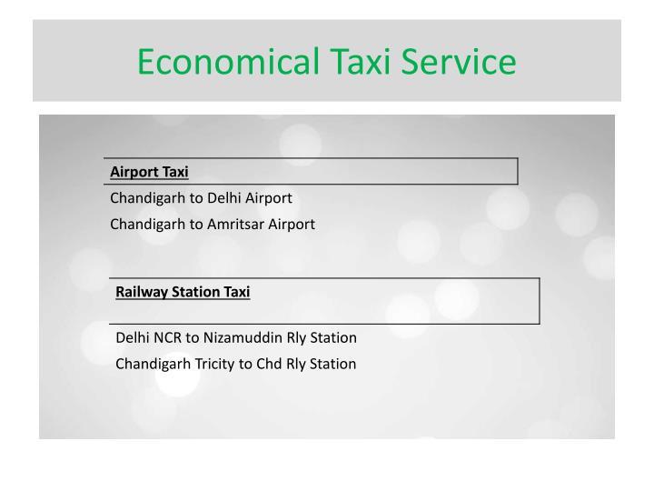 Economical Taxi Service