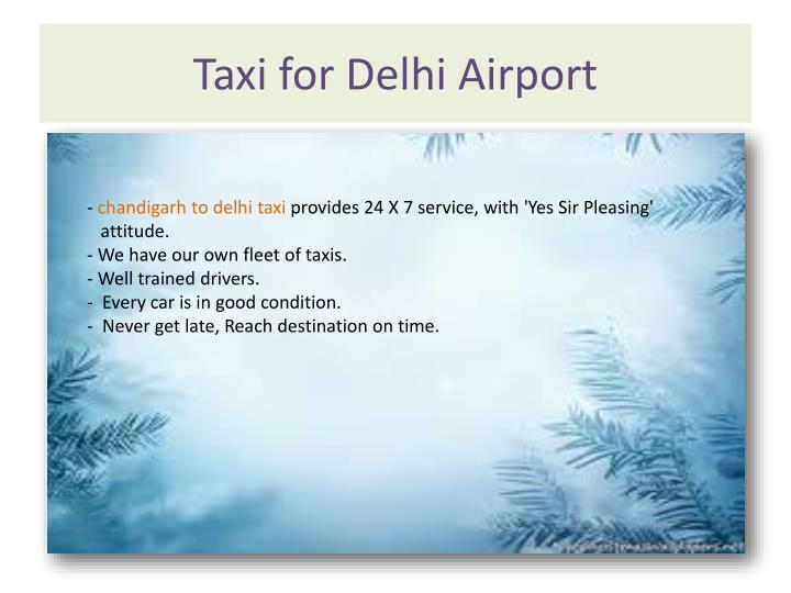 Taxi for Delhi Airport