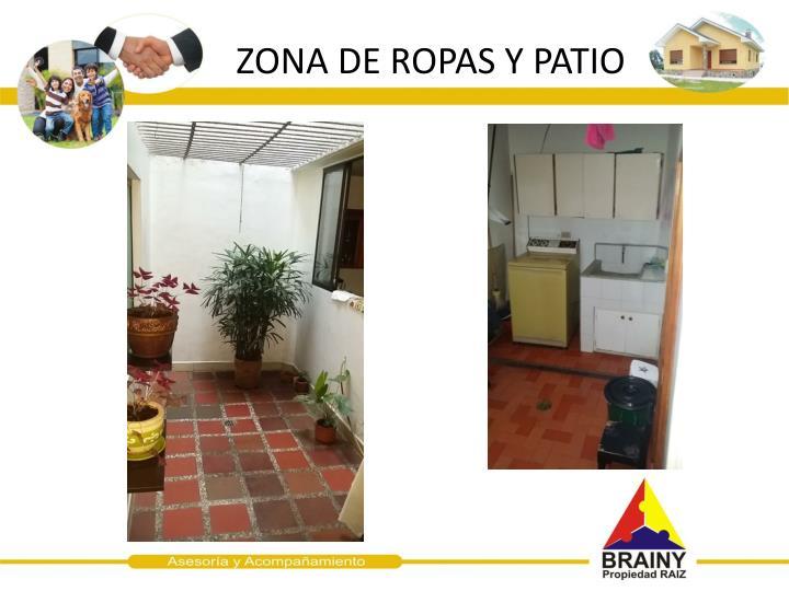 ZONA DE ROPAS Y PATIO
