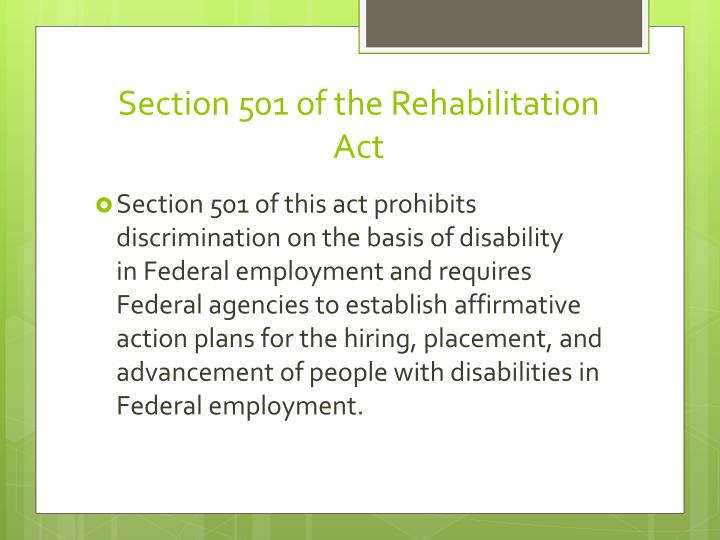 Section 501 of the Rehabilitation Act