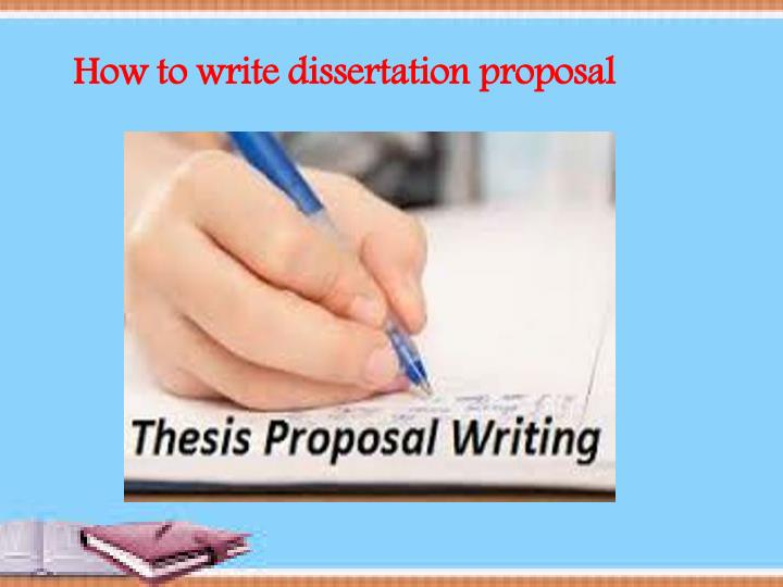 How To Write Thesis Proposal