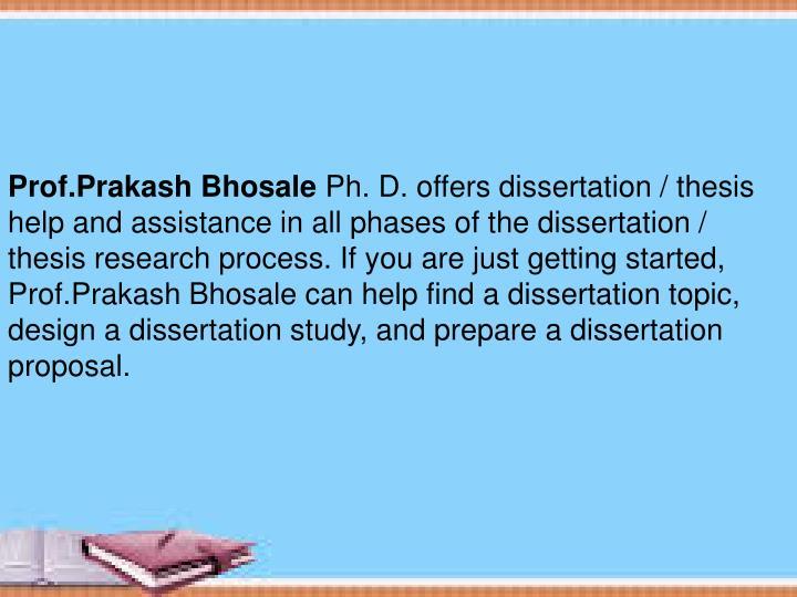 Prof.Prakash Bhosale