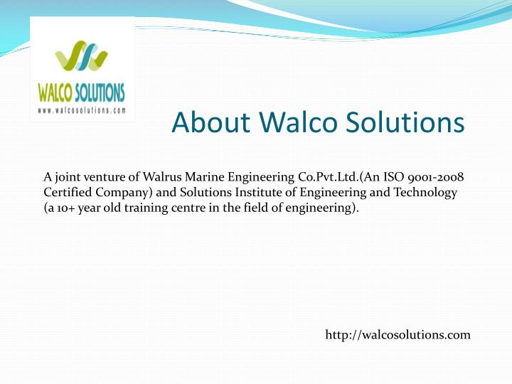 About walco solutions