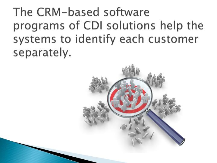The CRM-based software programs of