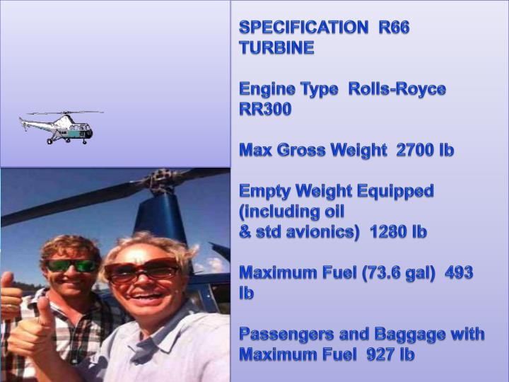 SPECIFICATION  R66