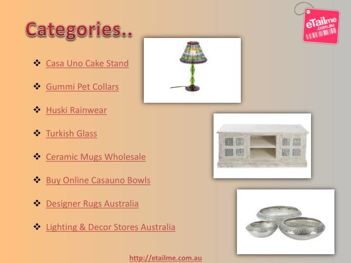 Categories..