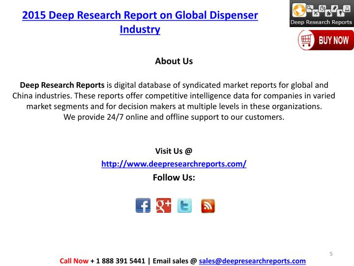 2015 Deep Research Report on Global Dispenser Industry