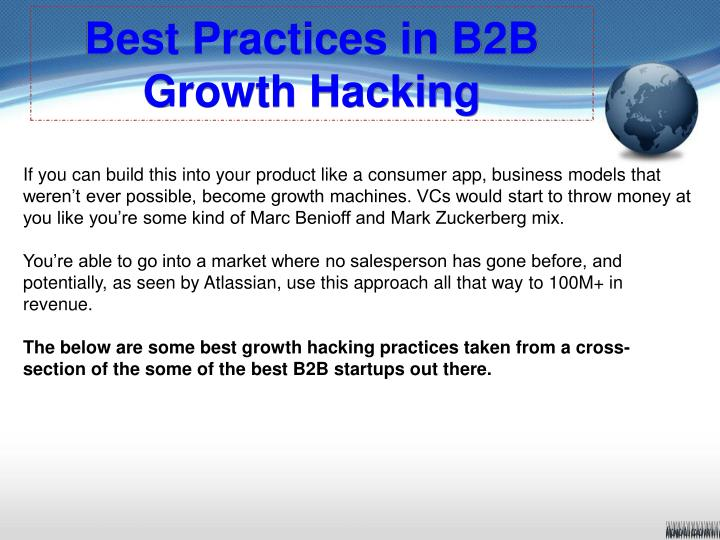 Best practices in b2b growth hacking