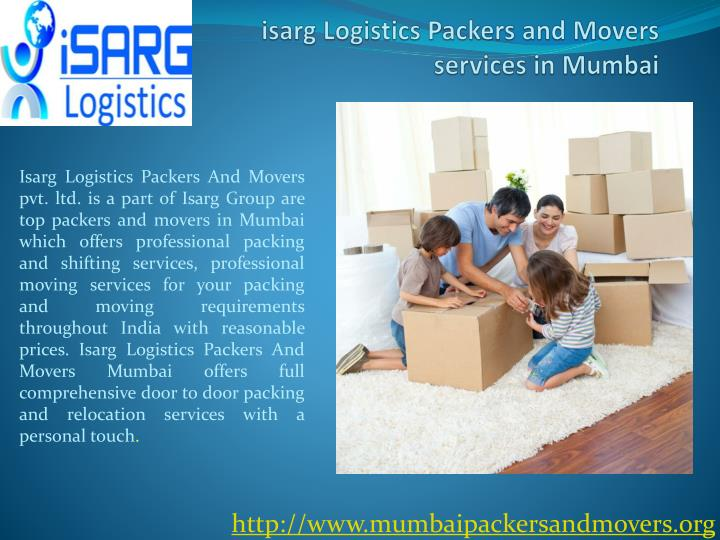 Isarg logistics packers and movers services in mumbai