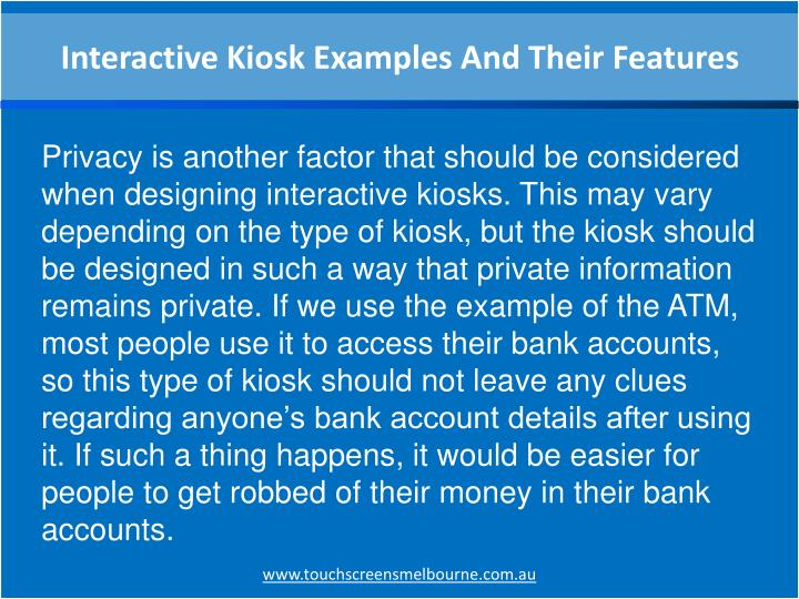 Interactive Kiosk Examples And Their Features