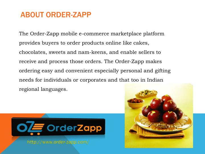 About order zapp