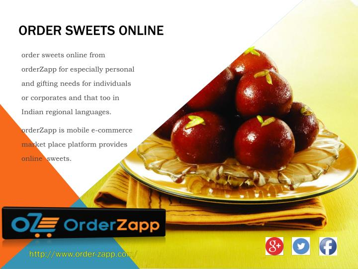 order sweets