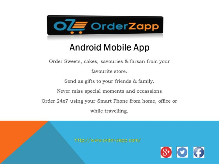 Order zapp order cakes sweets online