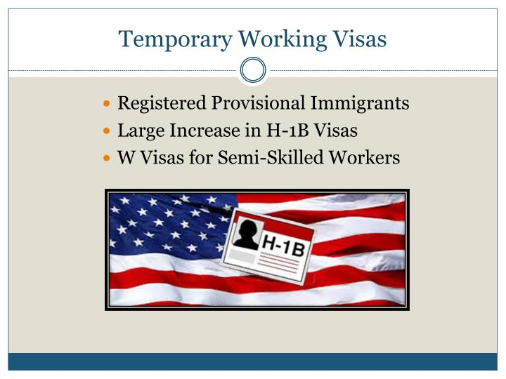 Temporary Working Visas