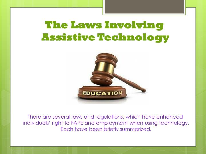 The Laws Involving