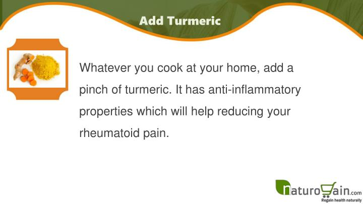 Add Turmeric