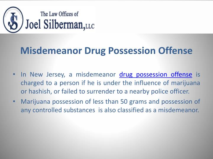 Misdemeanor drug possession offense