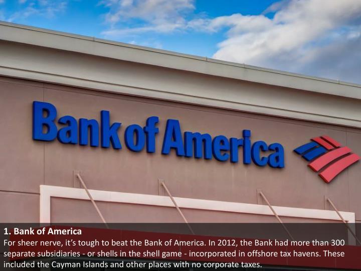 1. Bank of America