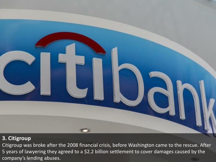 3. Citigroup