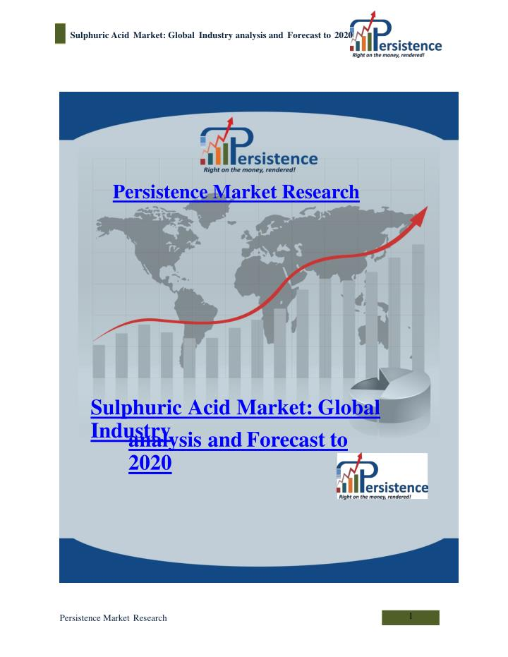 Sulphuric acid market global industry analysis and forecast 7137268