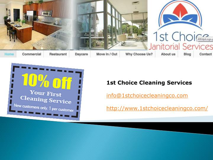1st Choice Cleaning Services