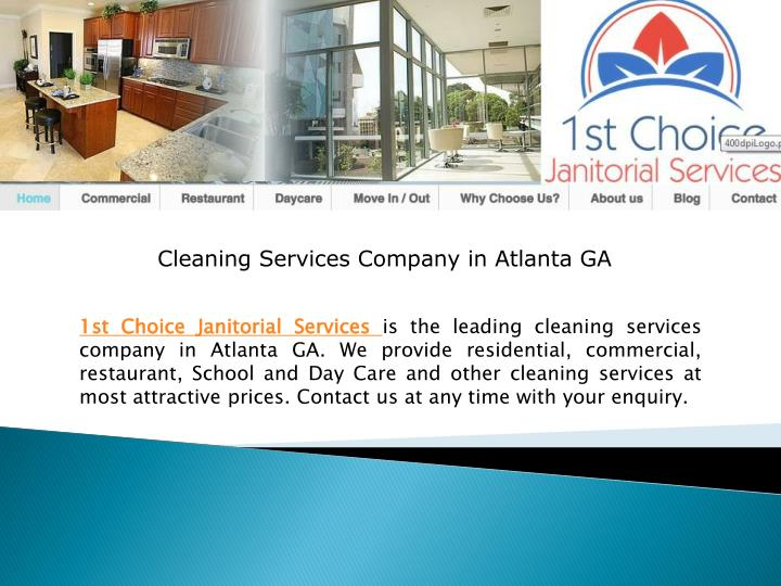 Cleaning Services Company in Atlanta GA