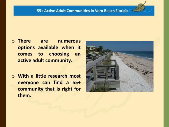55+ Active Adult Communities in Vero Beach Florida
