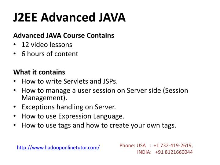 J2EE Advanced JAVA
