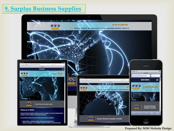 9. Surplus Business Supplies