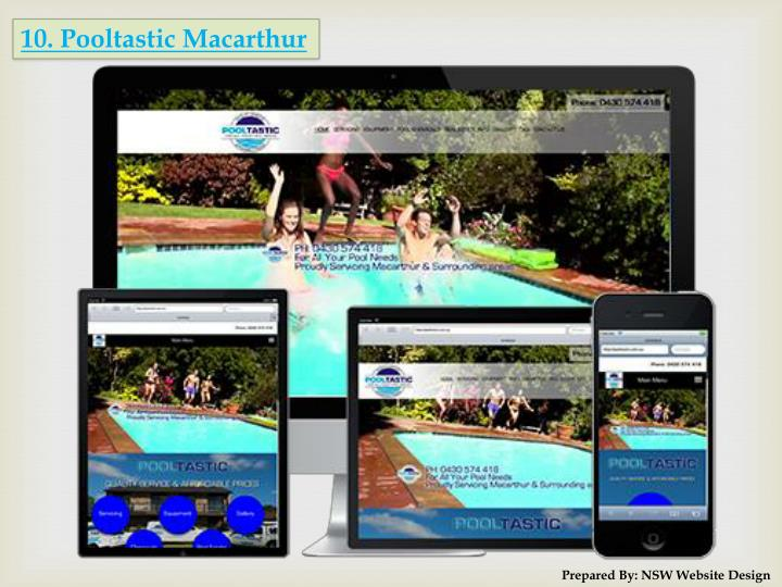 10. Pooltastic Macarthur