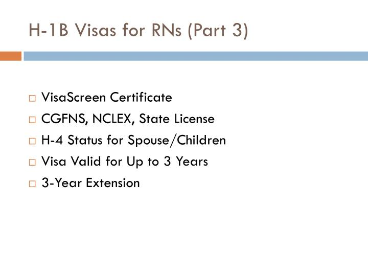 H-1B Visas for RNs (Part 3)