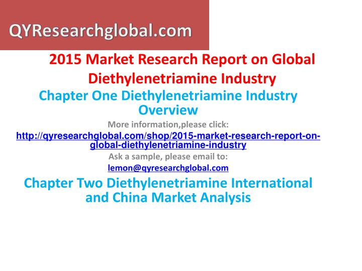2015 market research report on global diethylenetriamine industry1