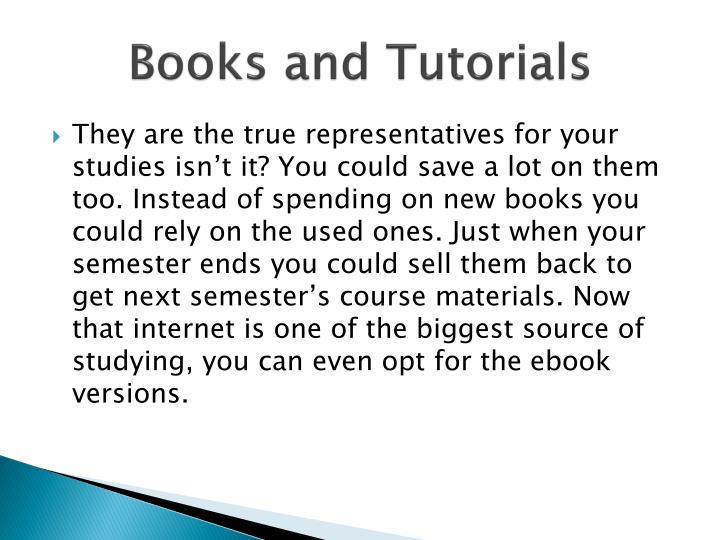 Books and Tutorials