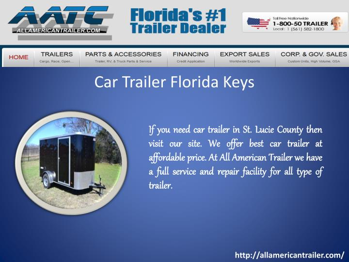 Car trailer florida keys