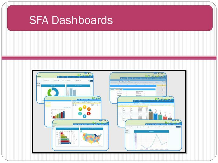 SFA Dashboards