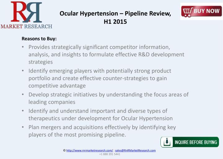 Ocular Hypertension – Pipeline Review,