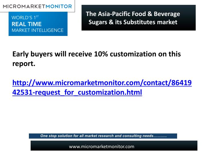 The Asia-Pacific Food & Beverage Sugars & its Substitutes market