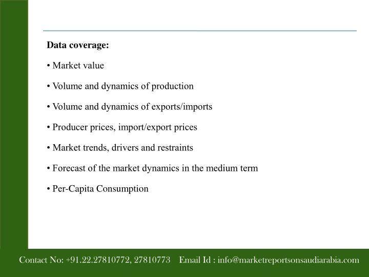 Data coverage: