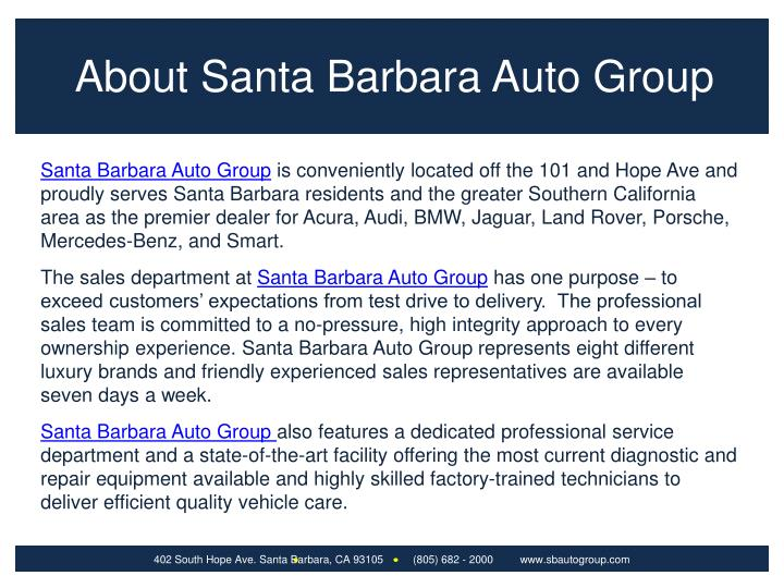 About Santa Barbara Auto Group