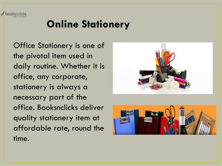 Online Stationery