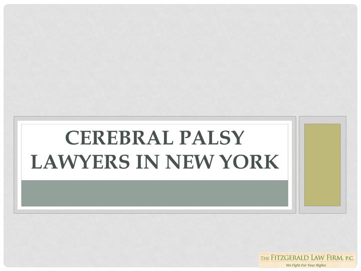 Cerebral Palsy Lawyers in New York
