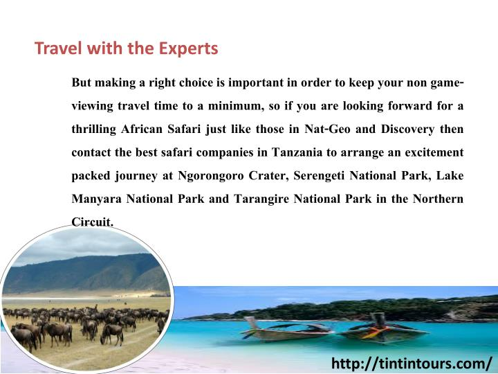 Travel with the Experts