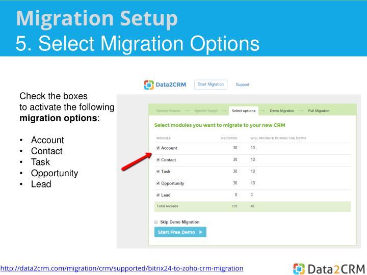 Migration Setup