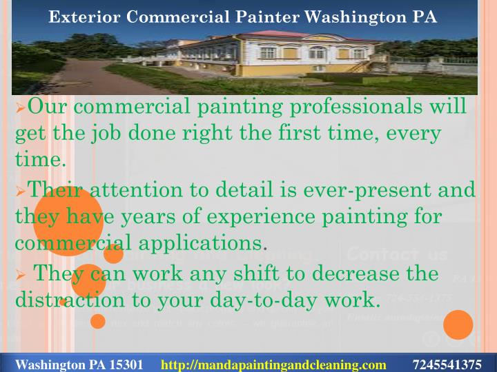 Exterior Commercial Painter Washington PA