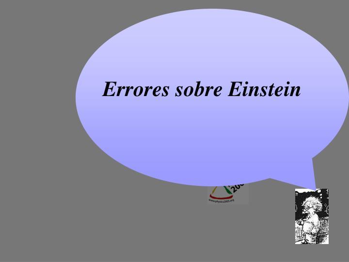 Errores sobre Einstein