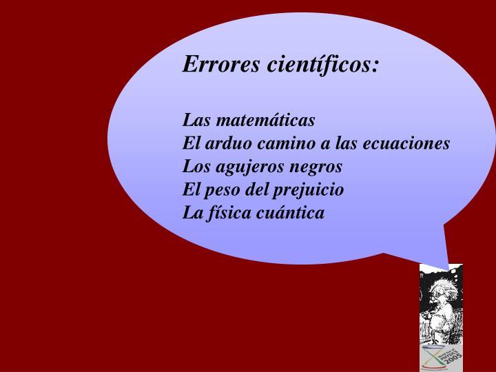 Errores científicos: