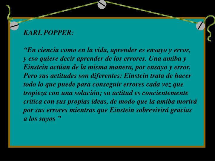 KARL POPPER: