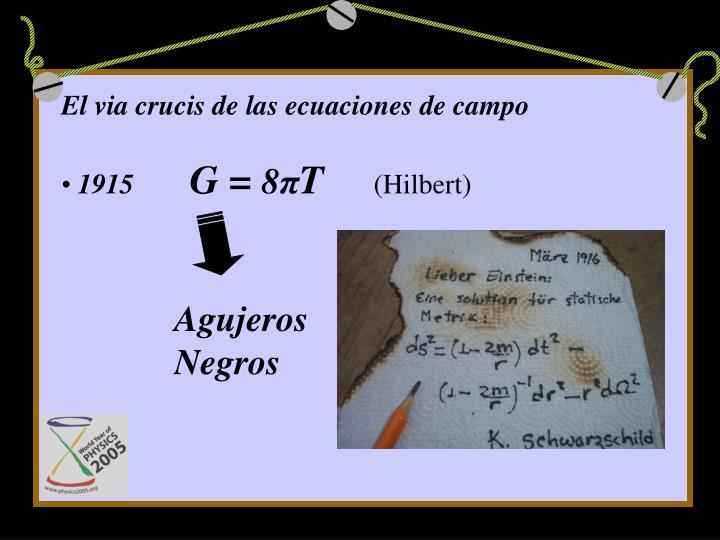 El via crucis de las ecuaciones de campo