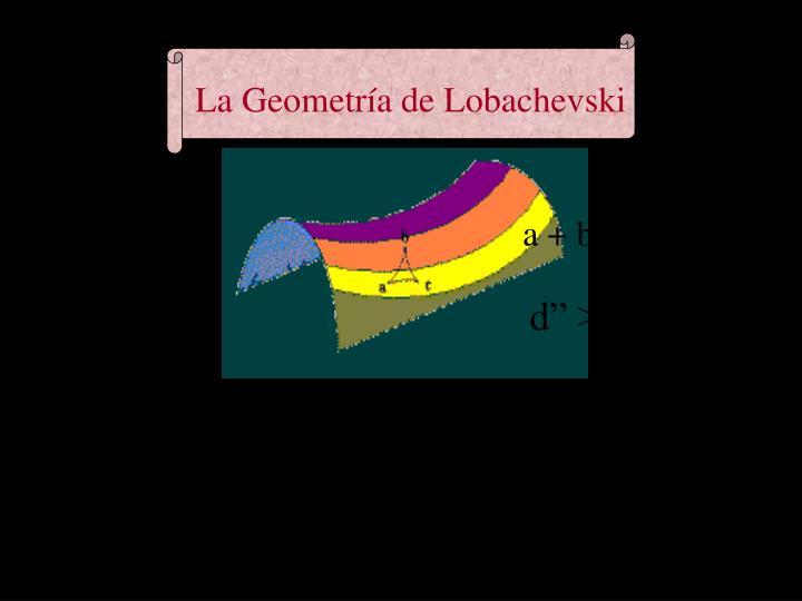 La Geometría de Lobachevski