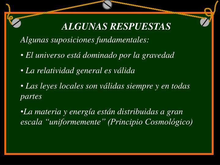 ALGUNAS RESPUESTAS